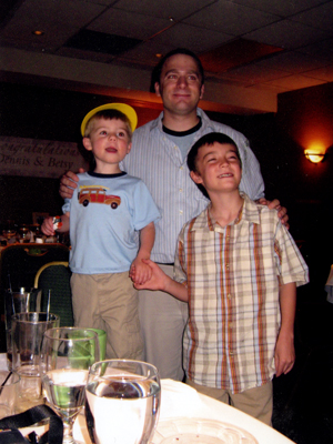 Michael with nephews