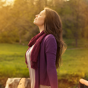 Image of Woman Breathing