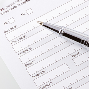 Image of Paper Form and Pen