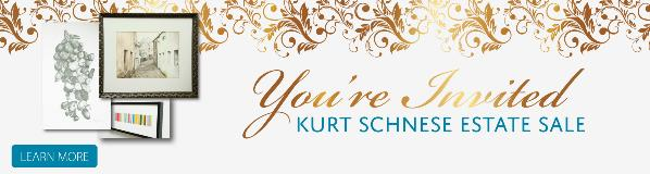 You're Invited. Click here for more information about Kurt Schnese's Estate Sale.