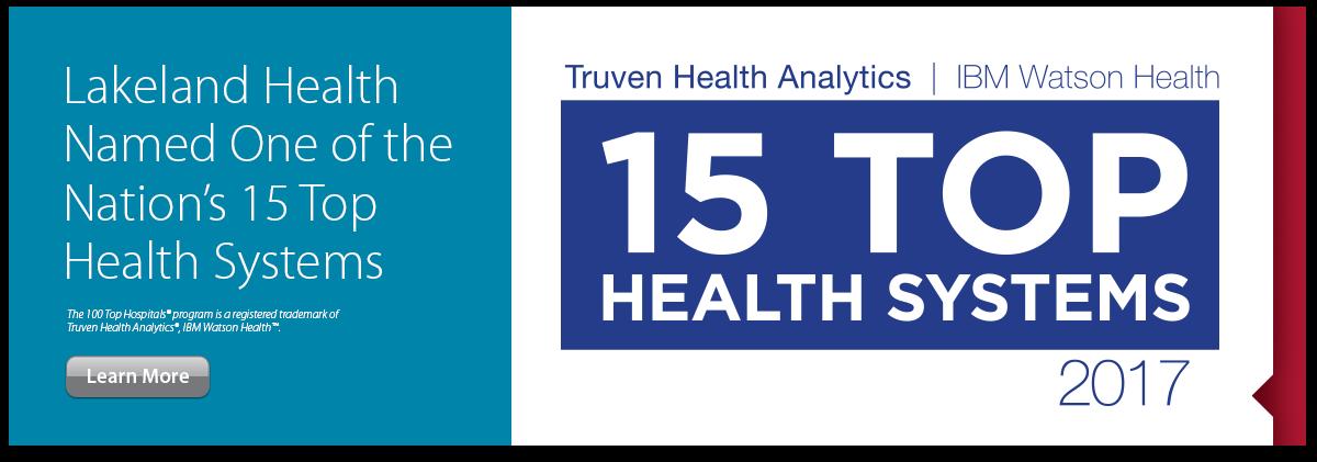 15 Top Health System Award Banner