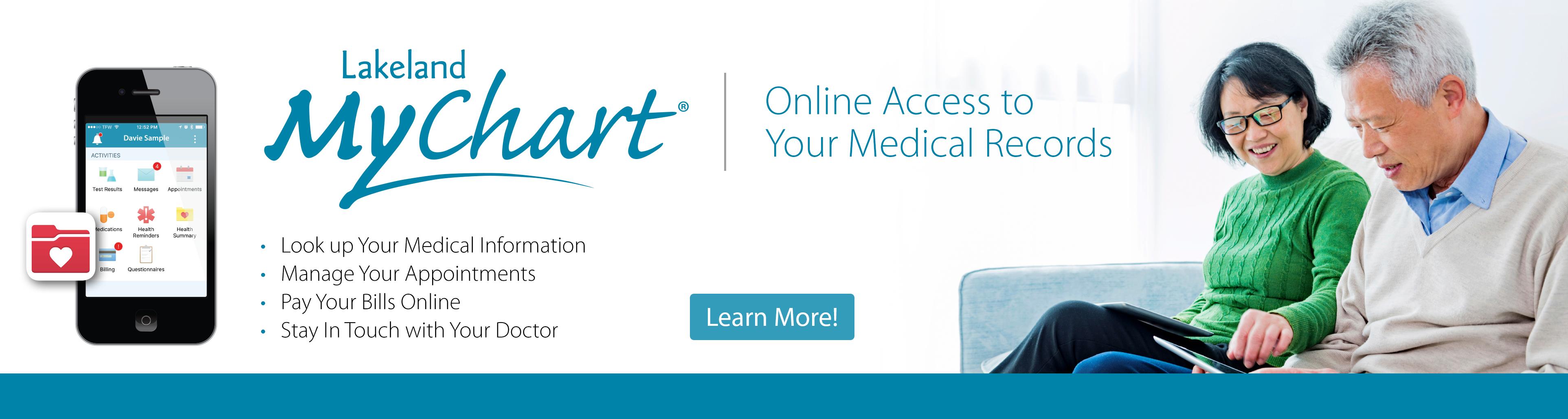 Image Promoting Lakelands Online Health Information System Mychart