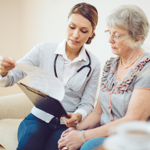 Image of Provider Speaking to Patient