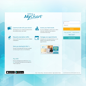 Image of Mychart Signup Page