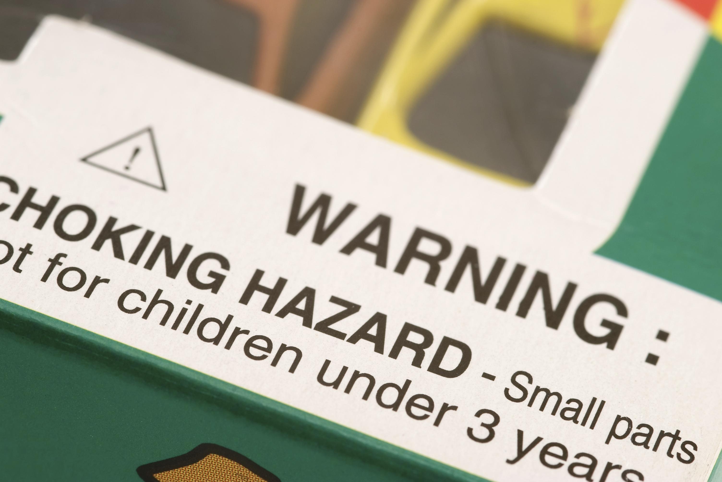 Warning on Toy