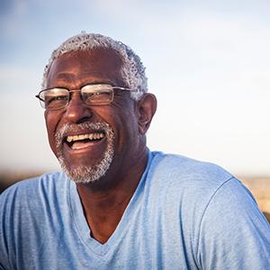 Image of of Happy Elderly African American Man