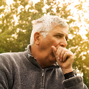 Image of Elderly Man Coughing