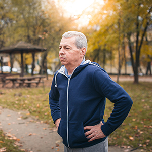 Image of Middle Aged Man Slightly Short of Breath