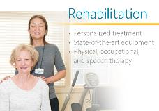 Click here to learn more about our rehabilitation services