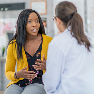 Image of Patient Speaking with Medical Provider