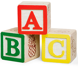 Image of Toy Blocks with Letters