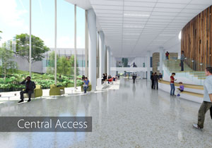 Main corridor in new pavilion