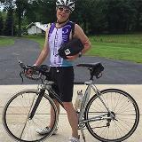 cancer patient riding a bike