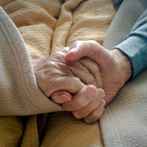 two hand embracing