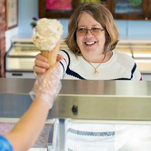 Image of Person Getting Ice Cream