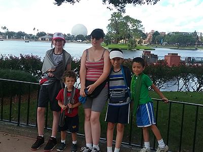 Image of Angie Crabtree and children