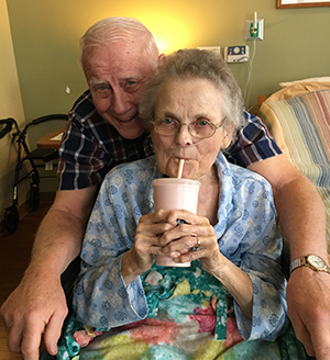 Janice with her husband at Hanson Hospice Center