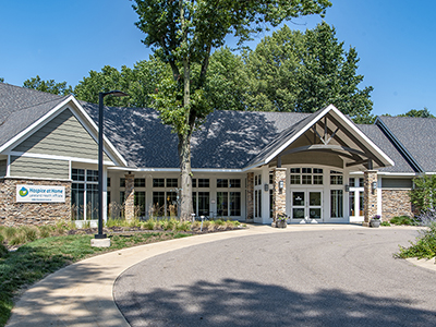 Front of the Merlin and Carolyn Hanson Hospice Center