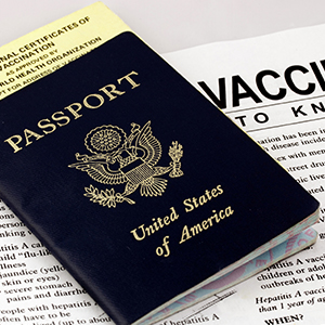 Image of Passport and Vaccination Information