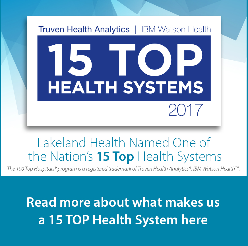Read more about what makes us a 15 TOP Health System here