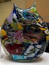 multi-colored vase