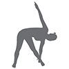 Icon of person stretching
