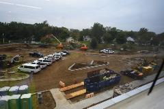 Parking lot in progress