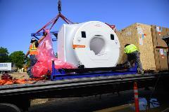 Delivery of MRI machine
