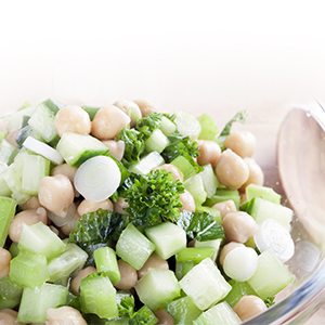 Chicpea cucumber salad