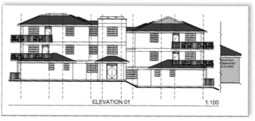 Tenwek House Drawing